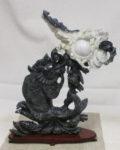 河南玉 彫刻飾り 魚 蝙蝠