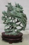 河南玉 鳳凰 彫刻飾り