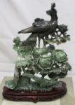河南玉 花鳥 彫刻飾り