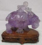 紫水晶 水牛に乗った人
