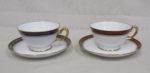 大倉陶園 ゴールドウィング 2色2客 カップ&ソーサーペアセット